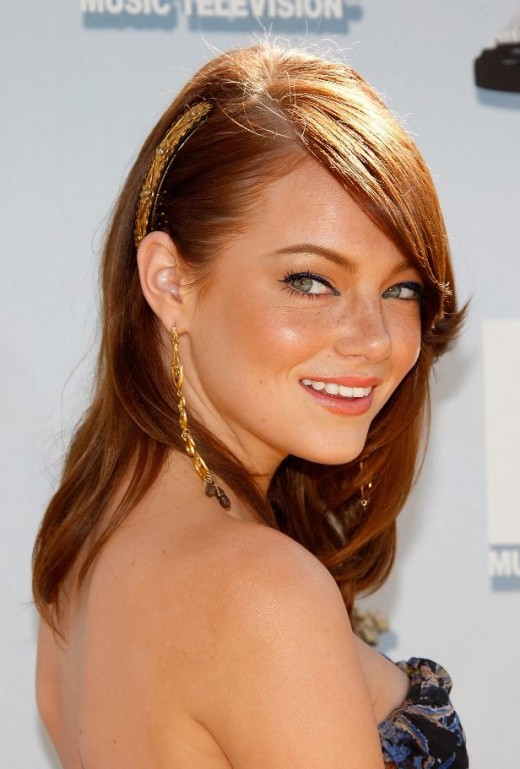 emma stone hairstyles. Stone was previously a cast