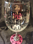 Personalized Painted Wine Glass