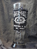 Personalized  Hand Painted Beer Glass