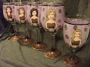 Hand Painted Personalized Wine Glass~ Wedding Party Glasses