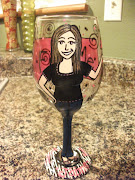 Hand Painted Personalized Wine Glass ~Happy 30th Birthday