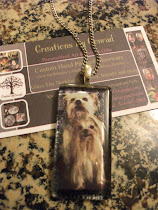 Glass Tile Photo Necklace