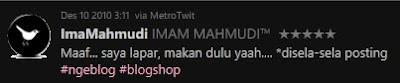 Twitter Imam Mahmudi