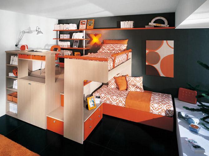 Teen Girl Room Ideas with Loft Beds