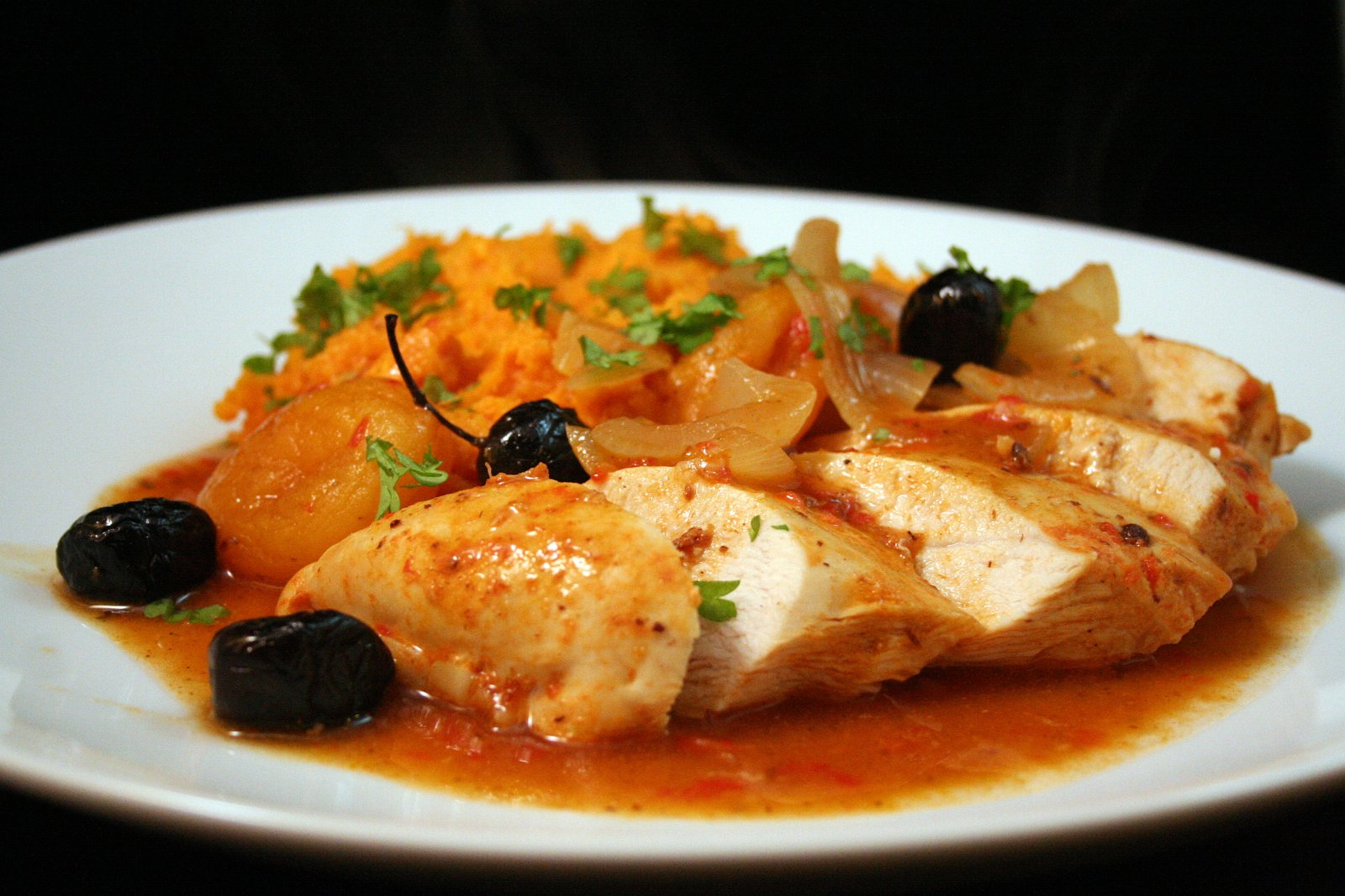 Senses in the kitchen: Moroccan style chicken & sweet potato mash