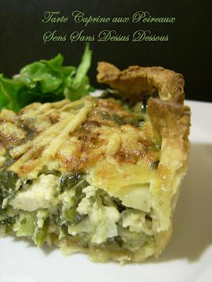 Sens sans dessus dessous tarte caprine au tofu et aux poireaux sans lait sans oeufs - Tarte aux poireaux sans oeufs ...