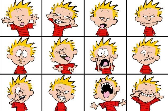 Comic facial expressions
