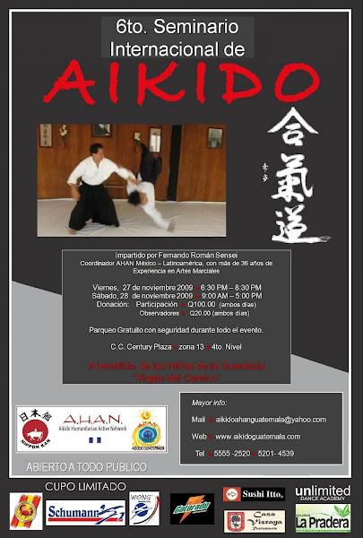 Afiche 6to. Seminario Aikido AHAN Guatemala
