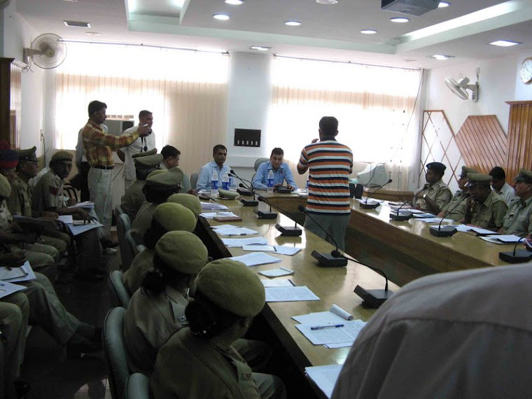 IN A TRAINING PROGRAM WITH POLICE