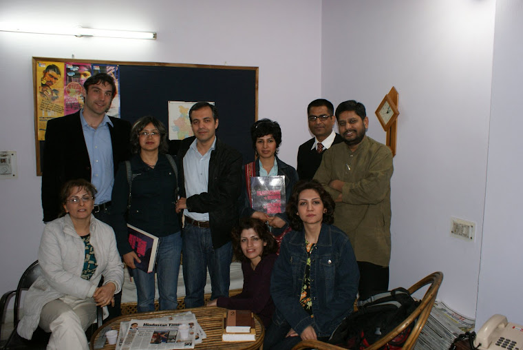 GROUP PHOTOGRAPH WITH THE JOURNALISTS &HUMAN RIGHTS ACTIVISTS FROM US AND IRAN