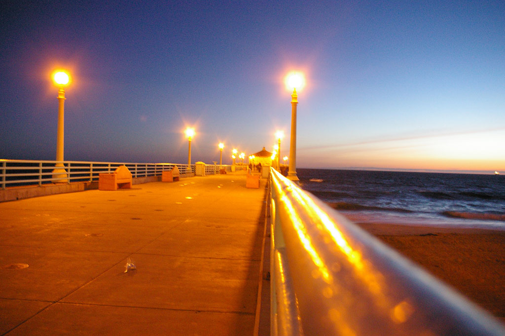 Rode bike to manhattan beach on wednesday my first sunset on the