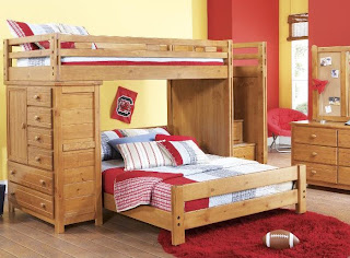 Practical styling Creekside bunk bed option for child's room