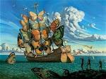 Un barco de Mariposas ...