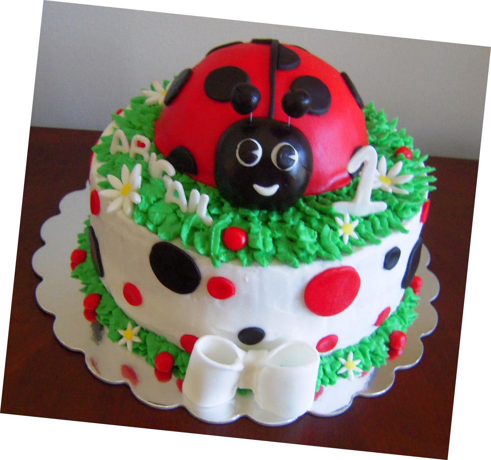 Icing Makes the Cake Lady Bug 1st Birthday Cake