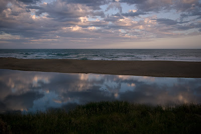 Evening reflections, main beach