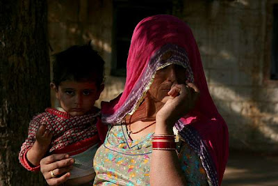 Bishnoi woman & child