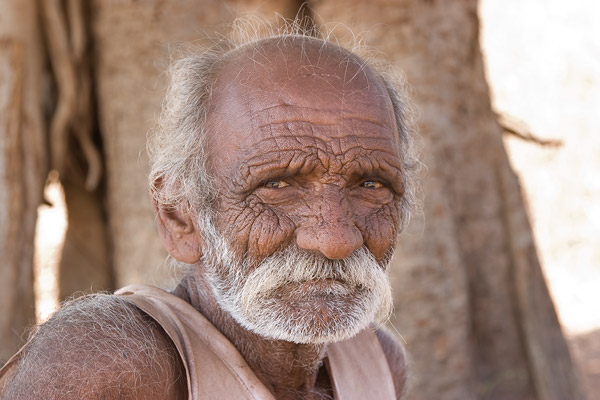 Old man, Barda hills, Gujarat