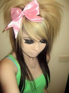 Long Emo Girl Hairstyle Picture Blonde Scene Hair Hairstyles Haircuts
