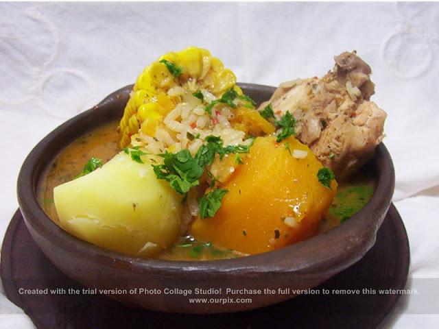 Cazuela de pollo chilena