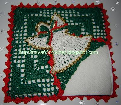 Miva crochet navidad 2007 un servilletero y un forro para alguna botella de las que se vayan a servir tambin les dejo mis buenos deseos para esta navidad y para el venidero ao fandeluxe Images