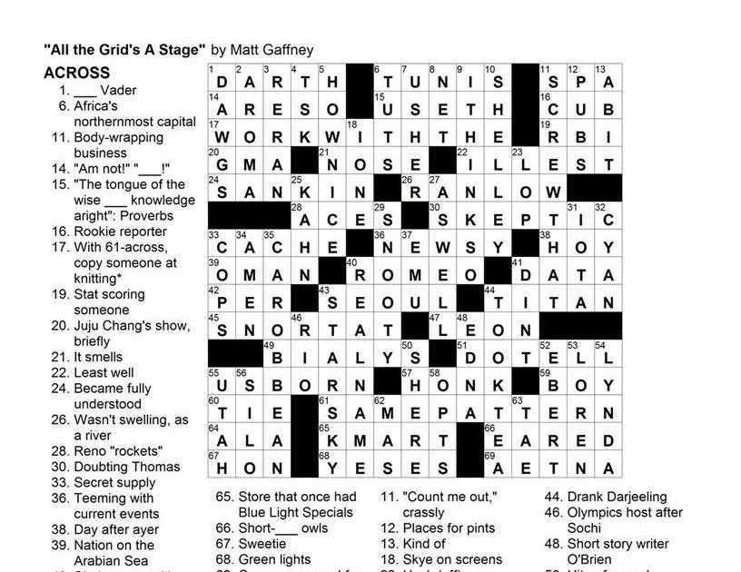 Matt gaffney 39 s weekly crossword contest mgwcc 102 for Columnist smith crossword clue