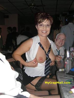 Sarah Palin topless nude picture with John McCain