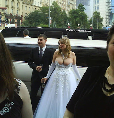 I need your opinion I think the brides necklace is a bit much funny wedding dress picture joke