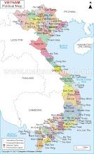 Mapa político de Vietnam