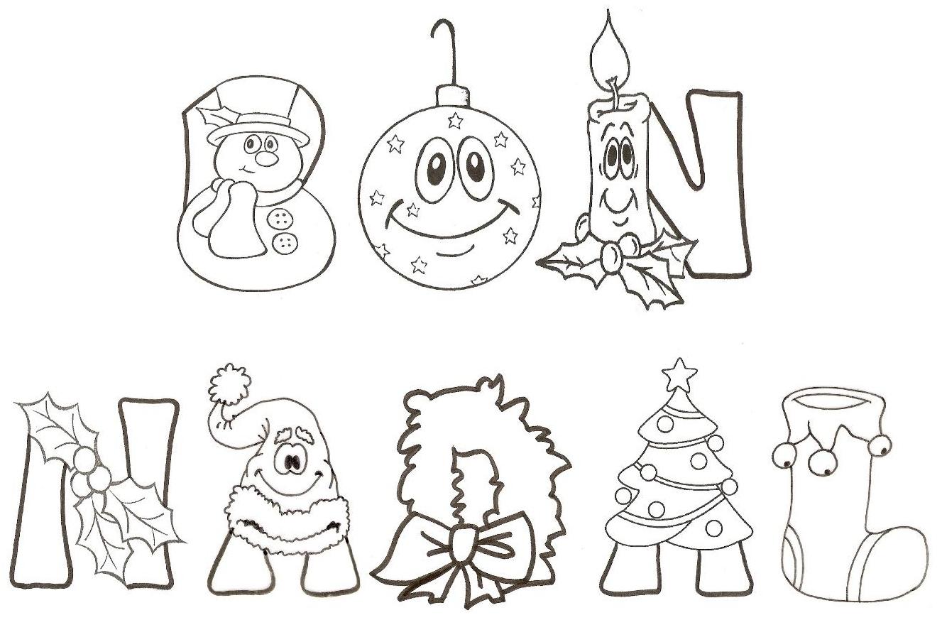dibujos de letras navidenas: