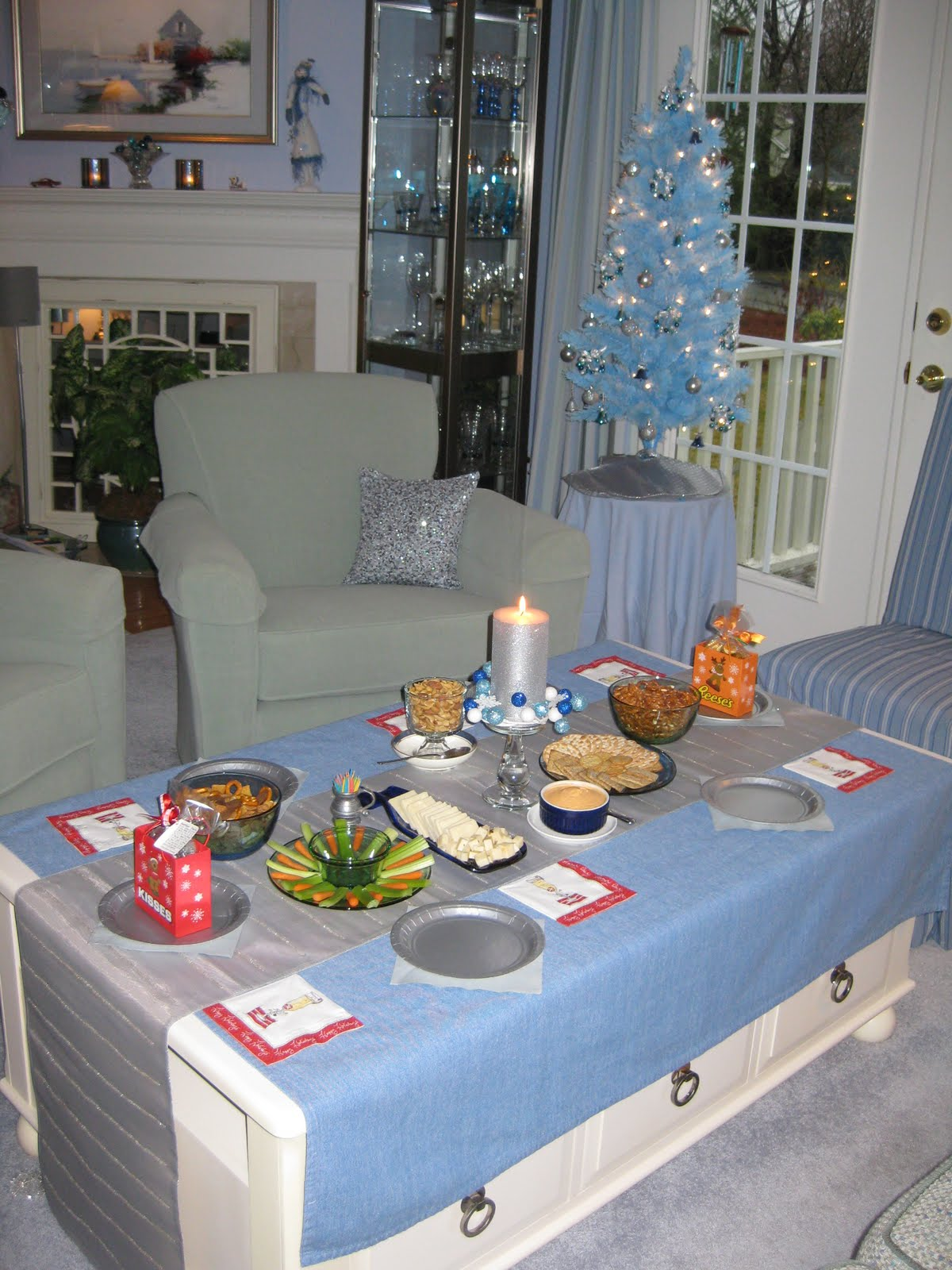 cocktail table set for a little christmas cheer - I Ll Have A Blue Christmas