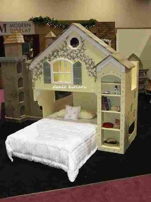 ev şekli çocuk yatak modelleri