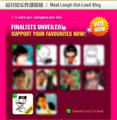新加坡部落格大奖2010 最佳娱乐性