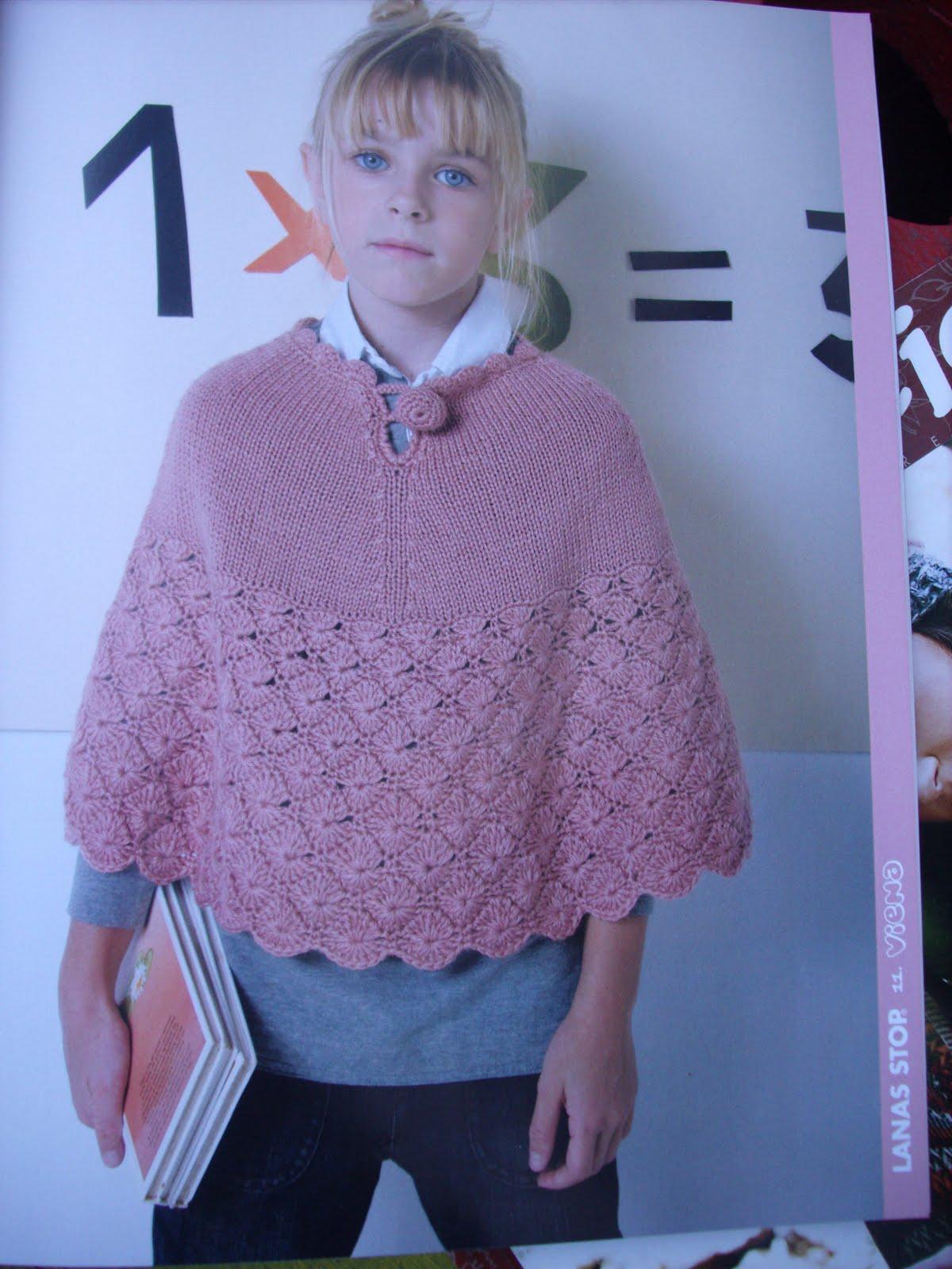 ... agujas con crochet este modelito tambien es de la revista lanas stop