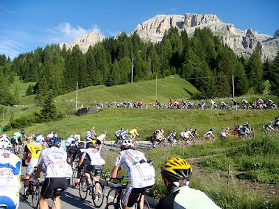 Mountain cycling in Alta Badia ski resort
