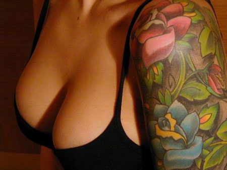 There are also many ways to enhance flower tattoo designs.