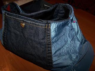 Карман от джинсовой рубахи на подкладе