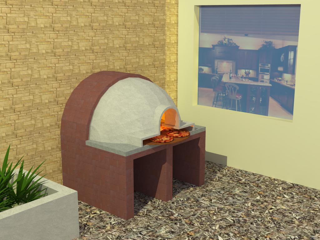 Dise os etc horno para pizza a la le a - Disenos de hornos de lena ...