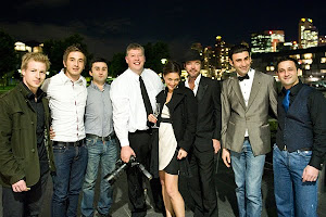 Me with the cast of Underbelly - The Golden Mile