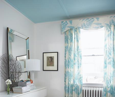 Creative juice canopy of color Rules for painting ceilings