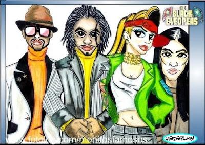 Fashion Black  Peas on Monitos Famosos  Regresa   Black Eyed Peas