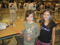 Lauren and friend at the Family Fun Night