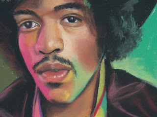 Jimi Hendrix daily pastel painting