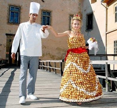 Here are some creative wedding dress designs