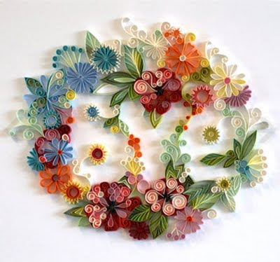 Beautiful crafts from colored paper 19 pics curious for Colour paper craft