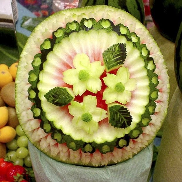 Incríveis esculturas em melancias