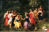 Οι εννέα Μούσες και η Αθηνά