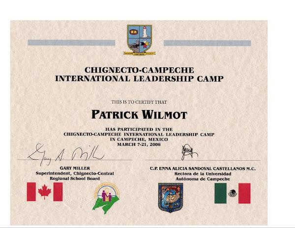 CCRSB certificate of participation