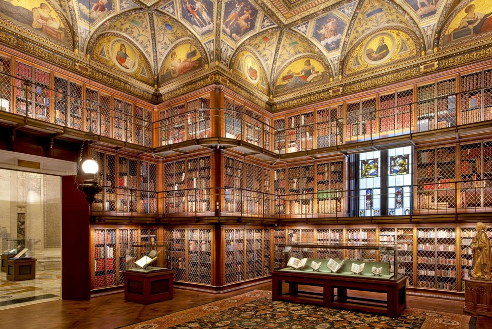 Missives from the art world j p morgan 39 s library for Personal home library