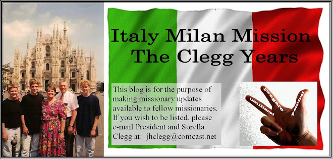 Italy Milan Mission--The Clegg Years