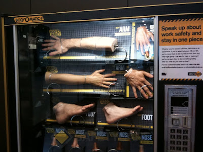 body parts for sale in a vending machine